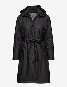 W Trench Coat - 01 BLACK