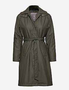 W Trench Coat - regnkläder - 03 green