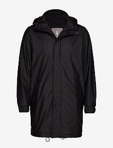 Long Quilted Parka - BLACK
