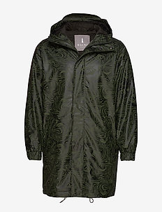 Long Quilted Parka - OIL CAMO