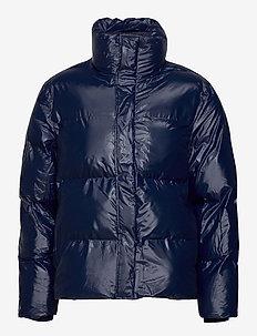 Boxy Puffer Jacket - donsjassen - 07 shiny blue
