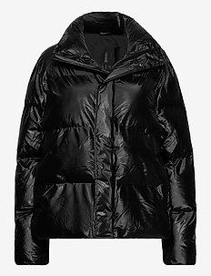 Boxy Puffer Jacket - forede jakker - 76 shiny black