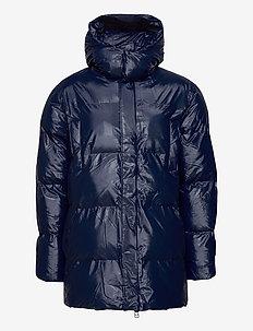 Hooded Puffer Coat - donsjassen - 07 shiny blue