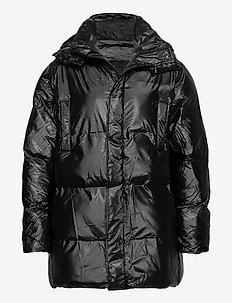 Puffer Hooded Coat - gefütterte jacken - 76 shiny black