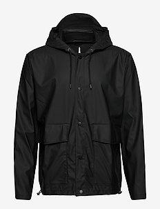 Short Hooded Coat - kurtki i płaszcze - 01 black