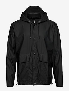 Short Hooded Coat - regntøj - 01 black
