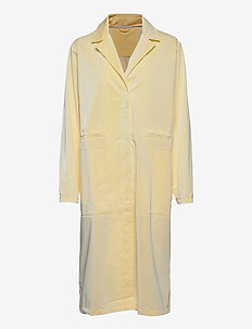 String Overcoat - trench coats - 22 pearl