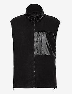 Fleece Vest - vatteret veste - 01 black