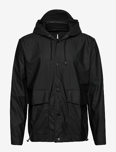 Short Hooded Coat - manteaux de pluie - 01 black