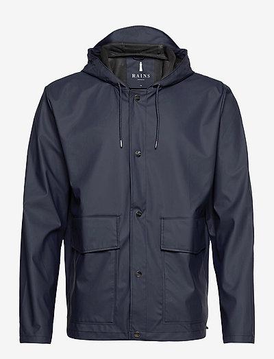Short Hooded Coat - regnjakker - 02 blue