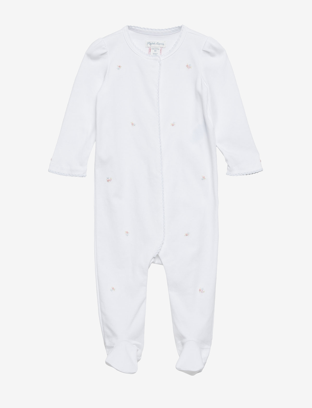 Ralph Lauren Baby - Floral Cotton Coverall - one-size - white - 0