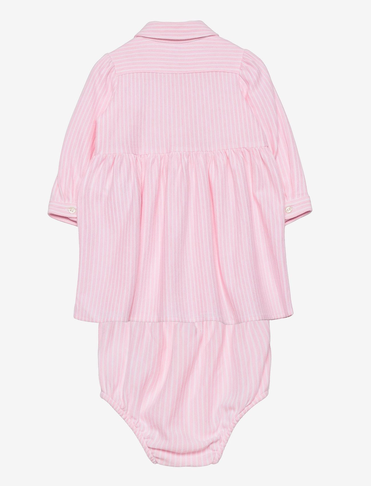 Ralph Lauren Baby - Striped Oxford Dress & Bloomer - dresses - carmel pink/white - 1