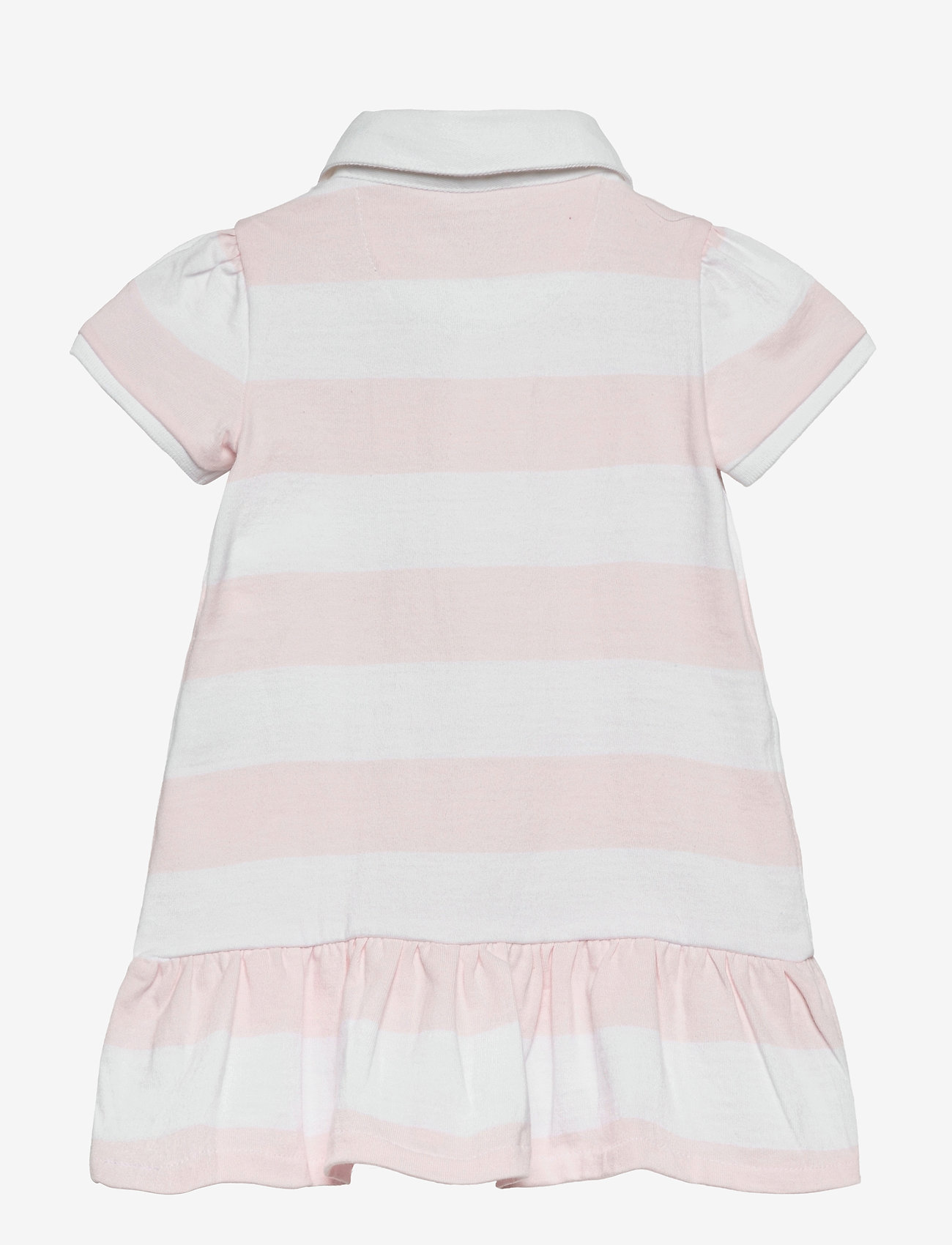 Ralph Lauren Baby - YD RUGBY JERSEY-RUGBY STRIPE-DR-KNT - dresses - delicate pink/whi - 1