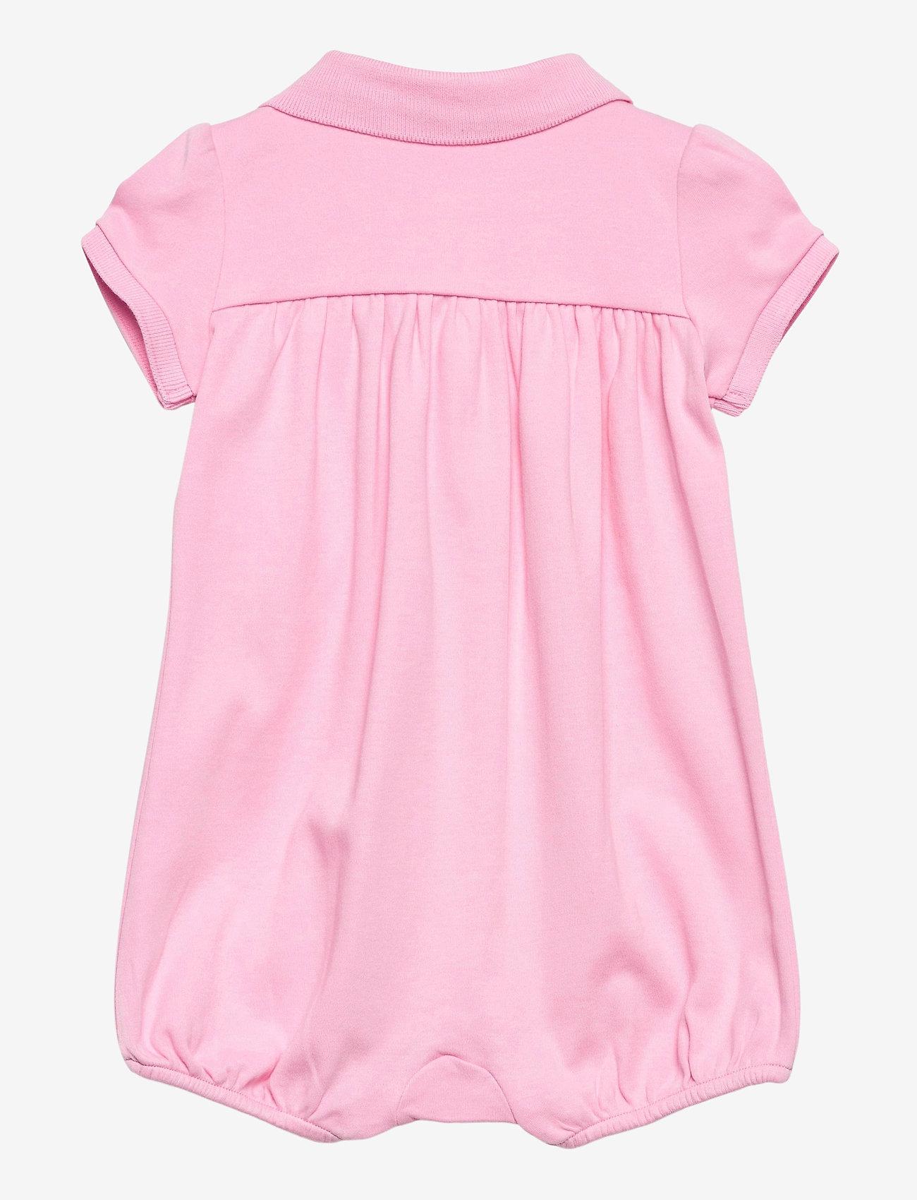 Ralph Lauren Baby - Interlock Bubble Shortall - kurzärmelige - carmel pink/white - 1