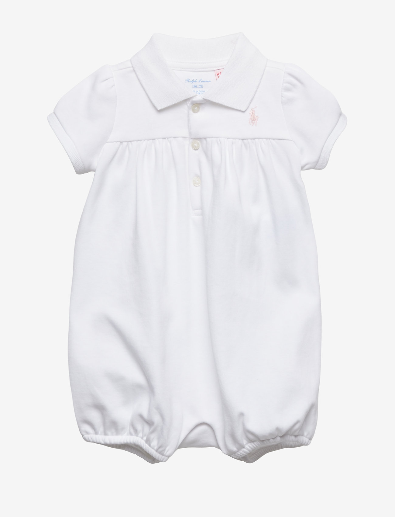 Ralph Lauren Baby - Interlock Bubble Shortall - short-sleeved - white - 0