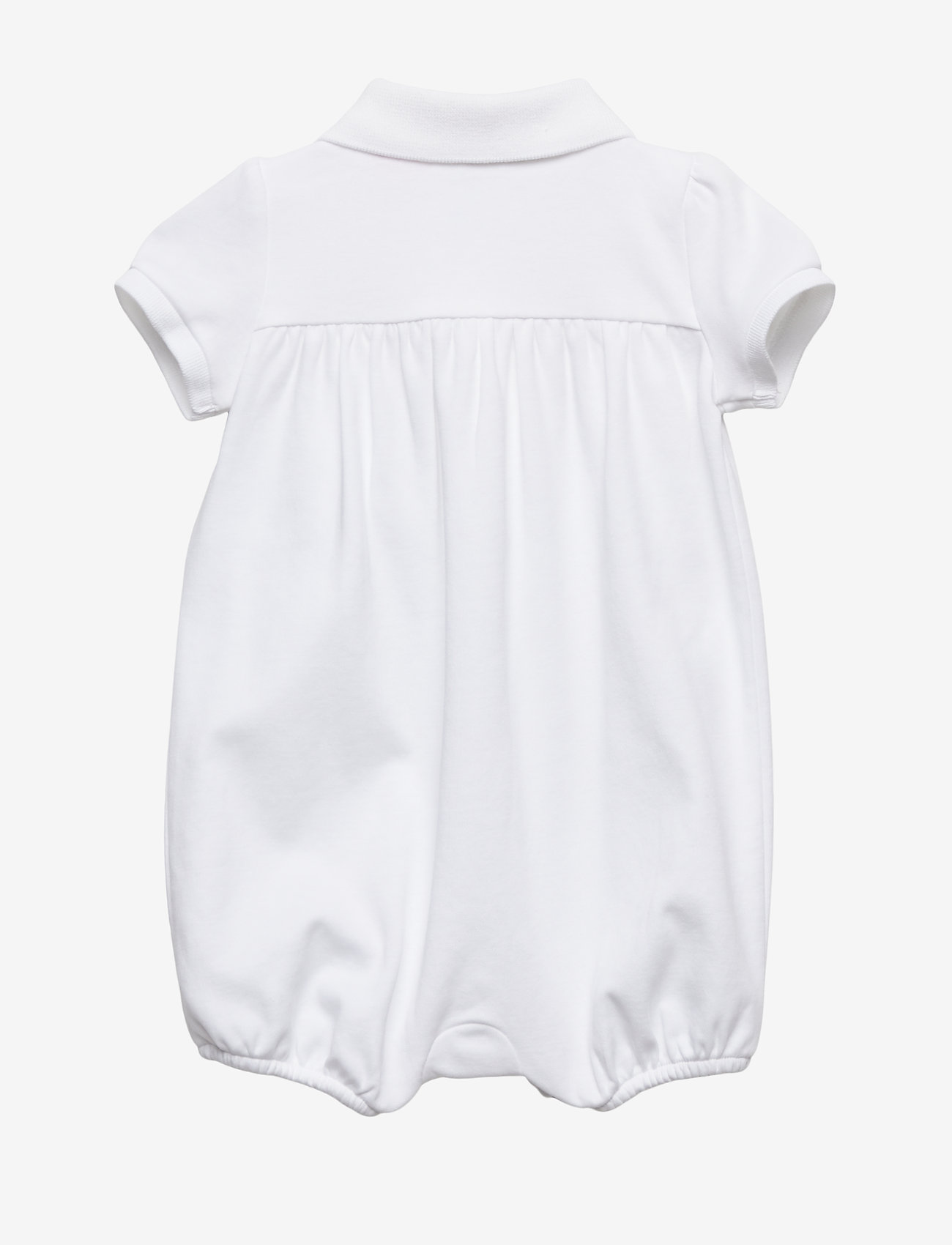 Ralph Lauren Baby - Interlock Bubble Shortall - short-sleeved - white - 1