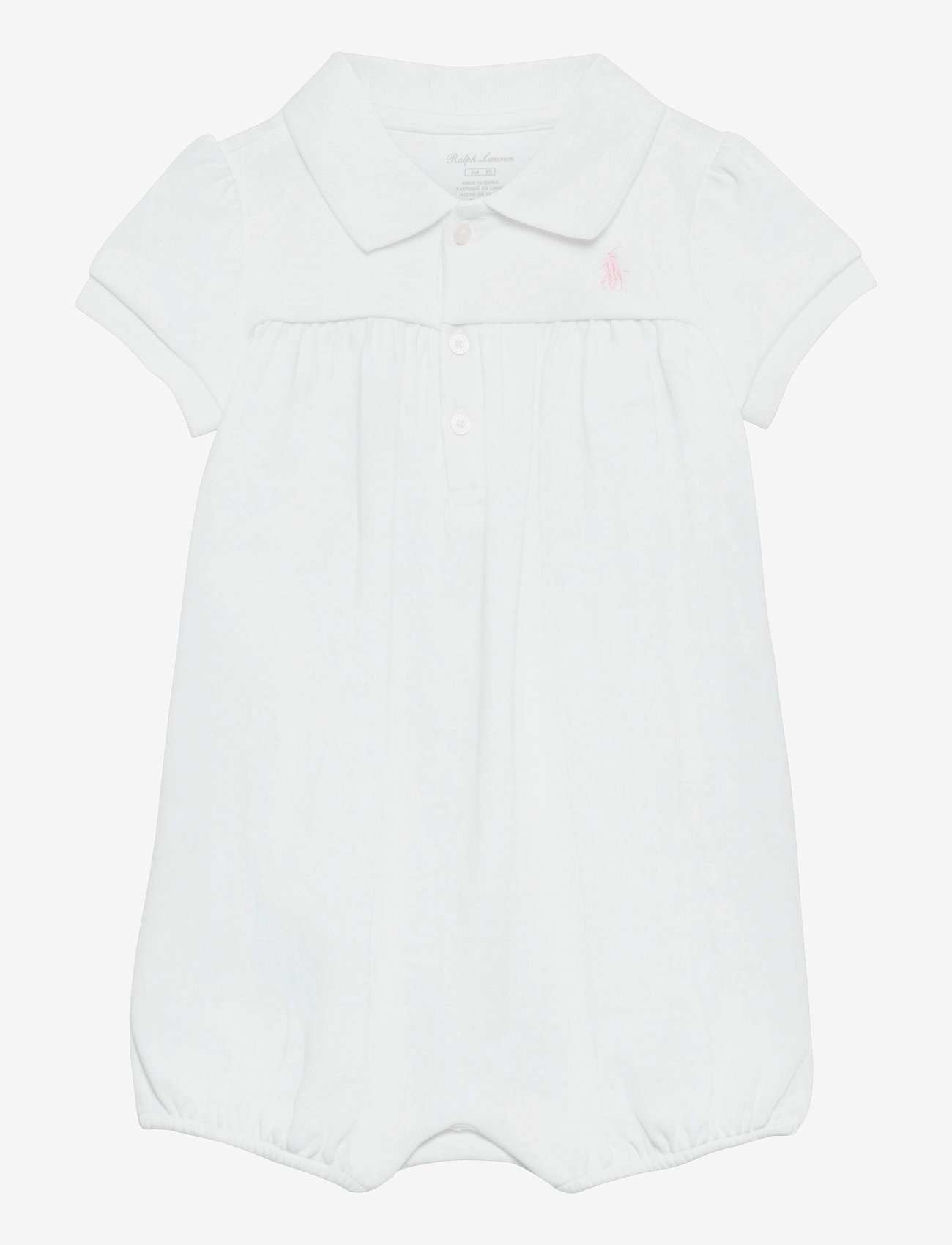 Ralph Lauren Baby - Interlock Bubble Shortall - short-sleeved - white - 0