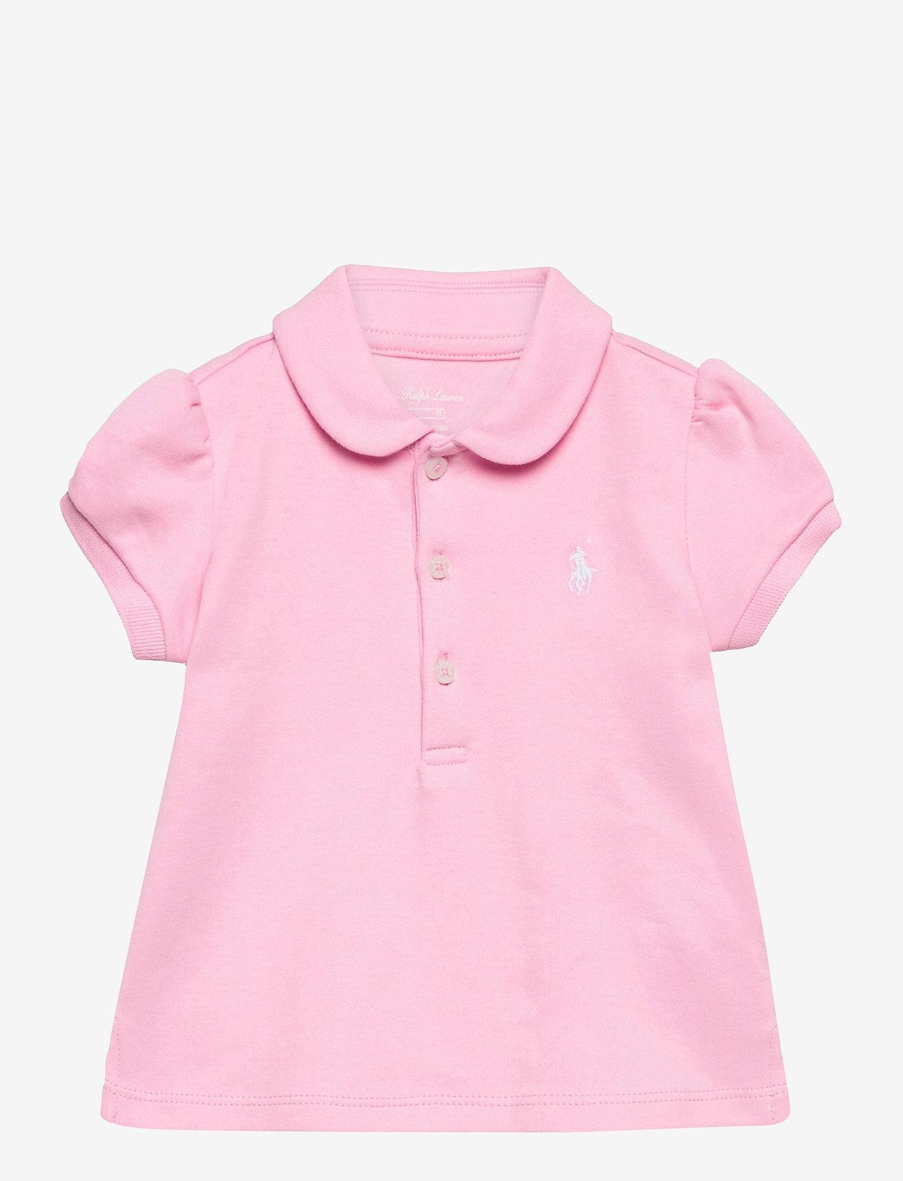 Ralph Lauren Baby - INTERLOCK-POLO SHIRT-TP-KNT - polo shirts - carmel pink/white - 0