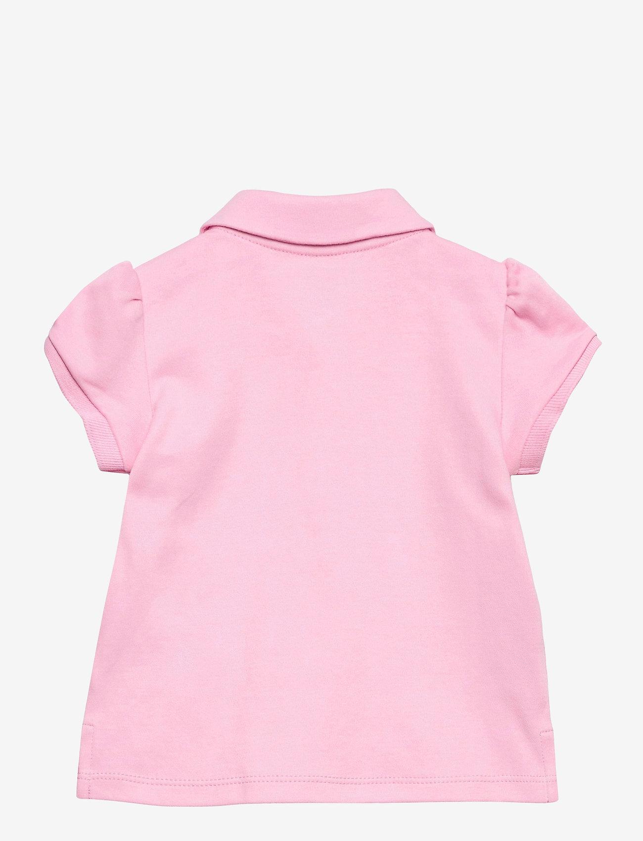 Ralph Lauren Baby - INTERLOCK-POLO SHIRT-TP-KNT - polo shirts - carmel pink/white - 1