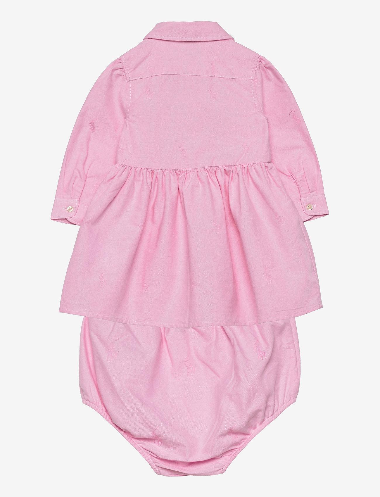 Ralph Lauren Baby - Pony Cotton Shirtdress - dresses - pink - 1