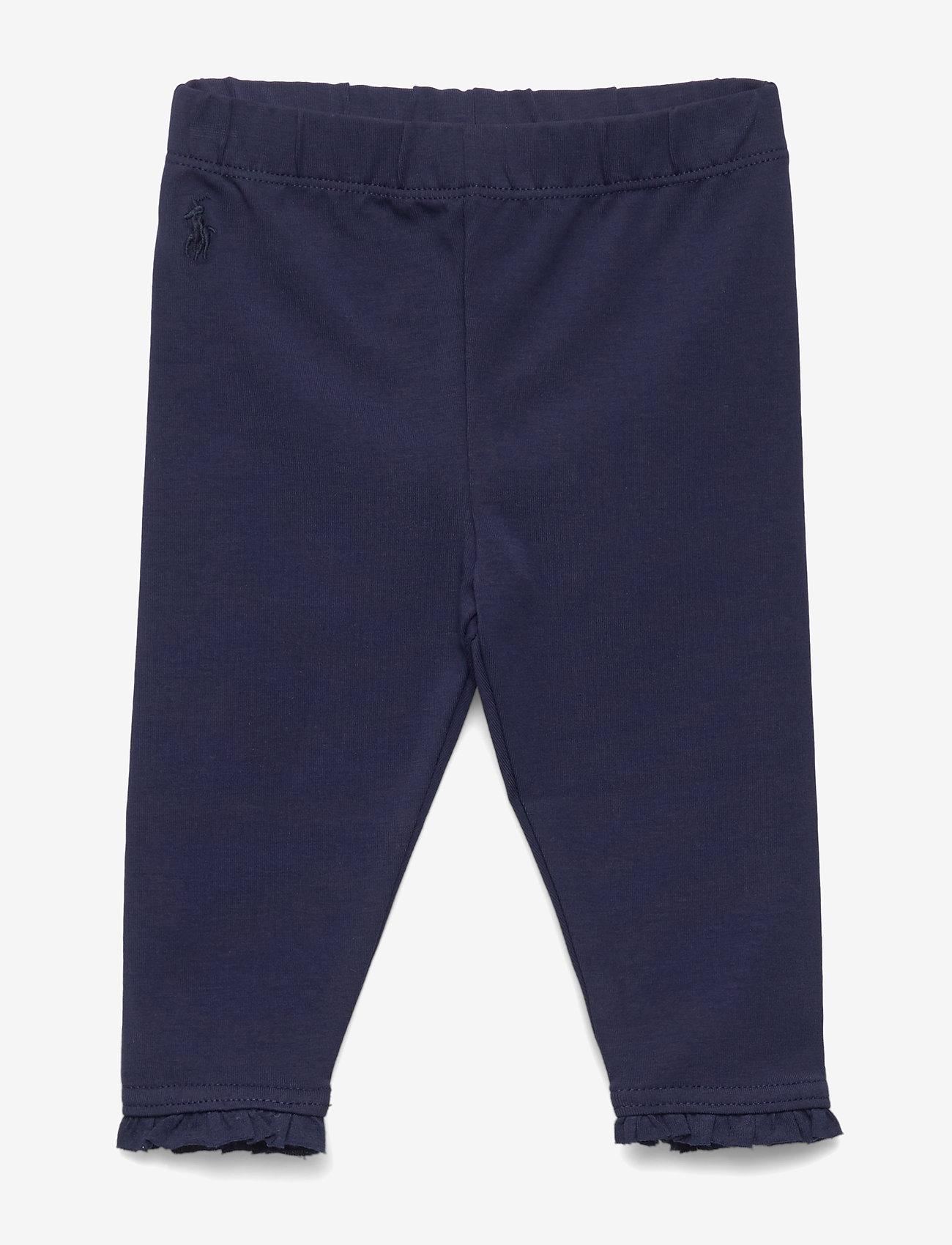 Ralph Lauren Baby - Ruffled Stretch Cotton Legging - leggings - french navy