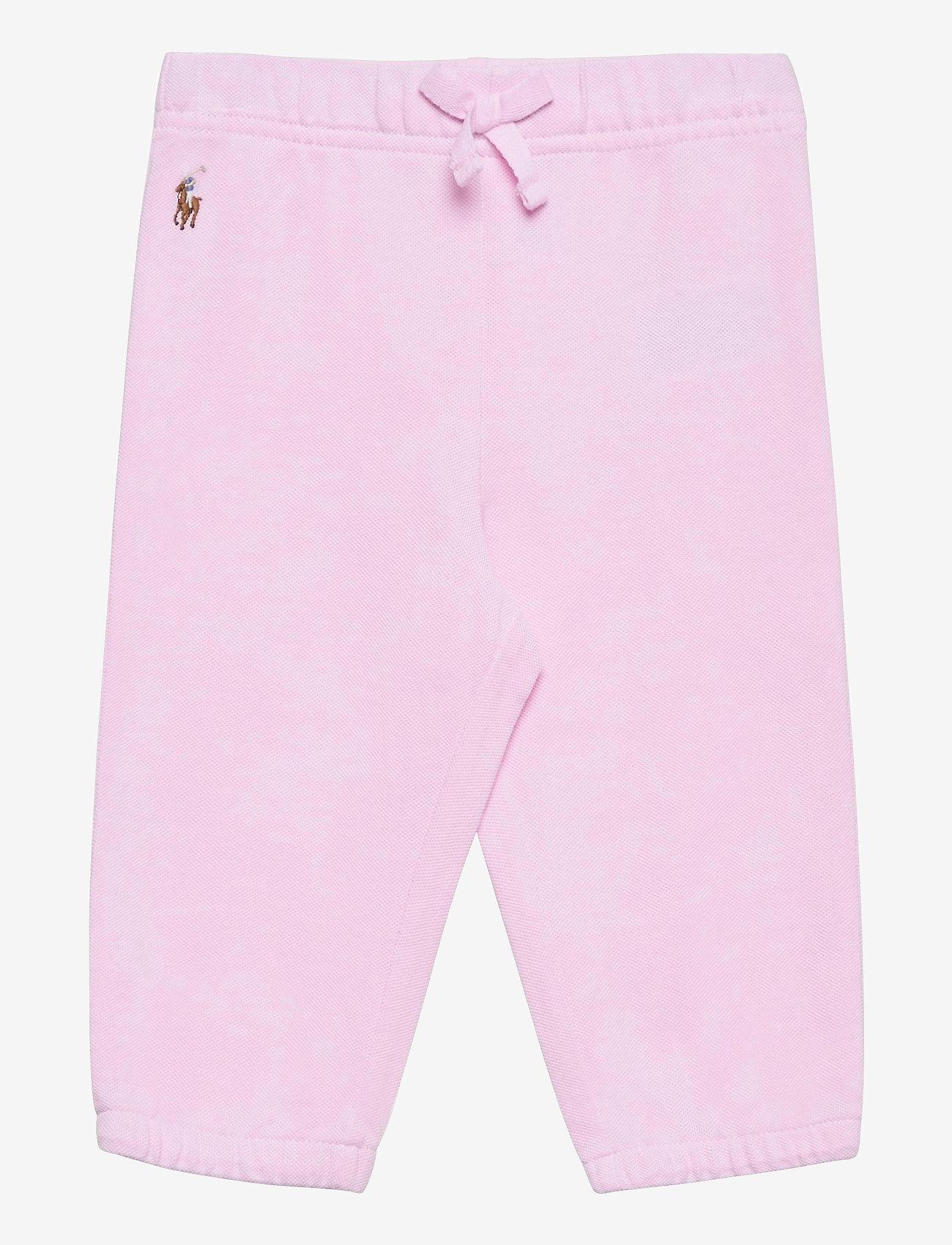 Ralph Lauren Baby - Oxford Mesh Pull-On Pant - bukser - carmel pink/white - 0