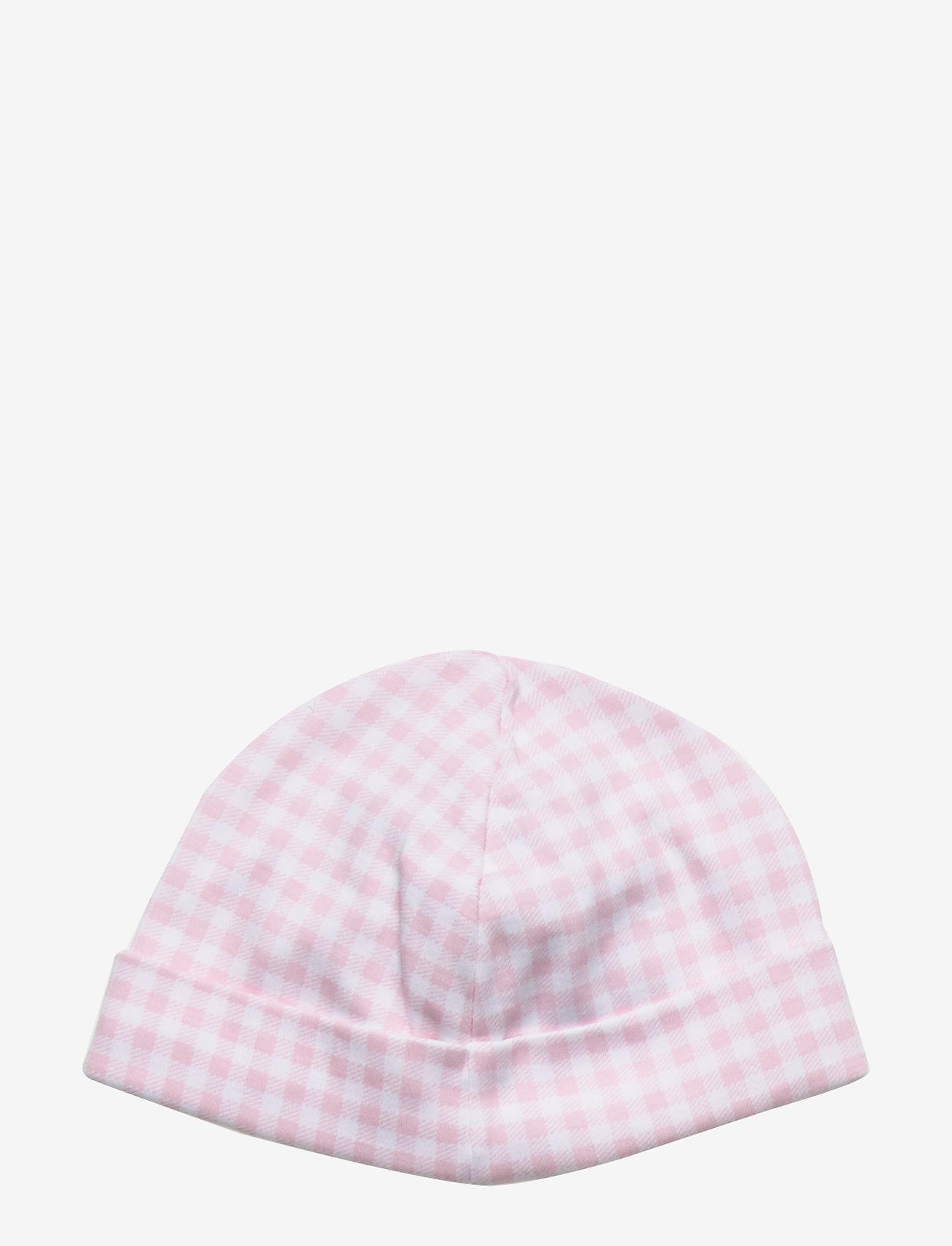 Ralph Lauren Baby - Gingham Cotton Interlock Hat - hats - delicate pink mul - 1