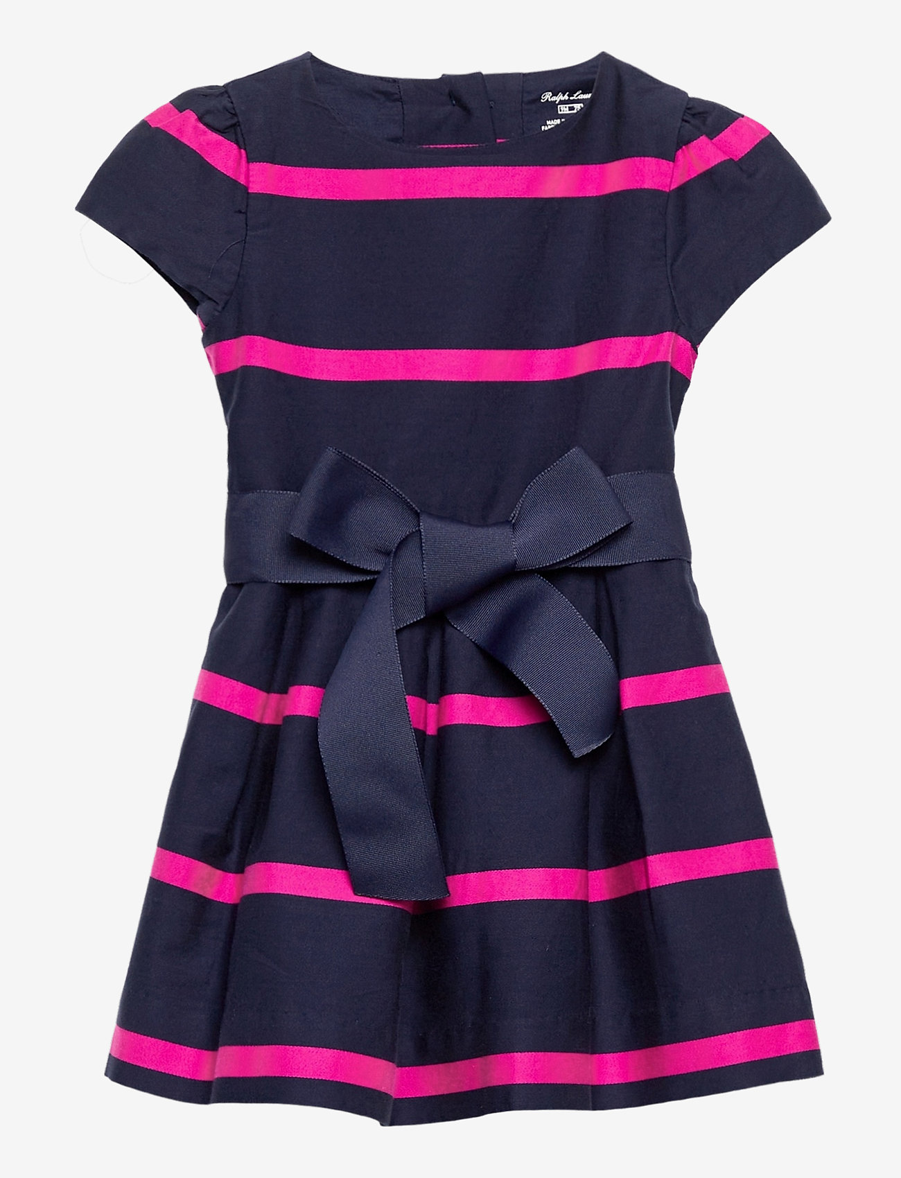Ralph Lauren Baby - Striped Sateen Dress & Bloomer - dresses - french navy multi - 0