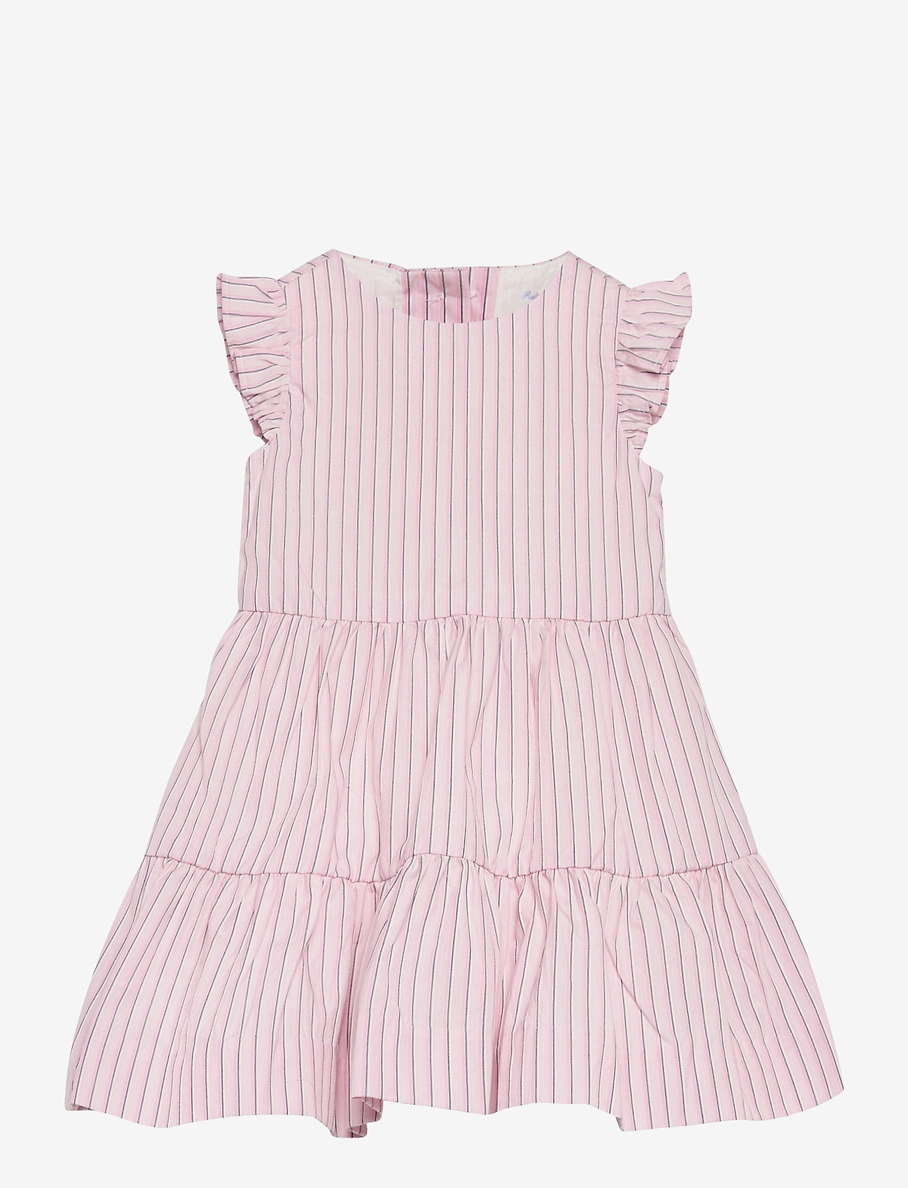 Ralph Lauren Baby - CORDED YD STRIPE-TIERED DRESS-DR-WV - dresses - pink white - 0
