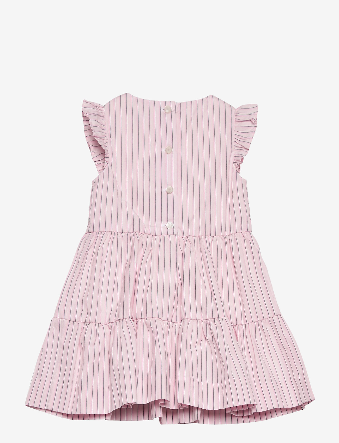 Ralph Lauren Baby - CORDED YD STRIPE-TIERED DRESS-DR-WV - dresses - pink white - 1