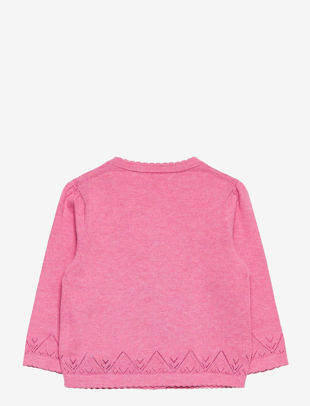 Ralph Lauren Baby - COTTON-FINE CARDI-TP-SWT - cardigans - preppy pink heath - 1
