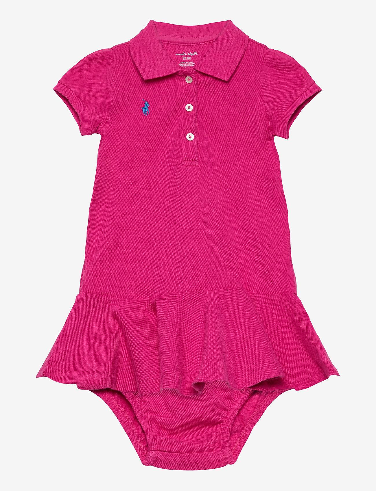 Ralph Lauren Baby - Piqué Polo Dress & Bloomer - jurken - accent pink/colby - 0