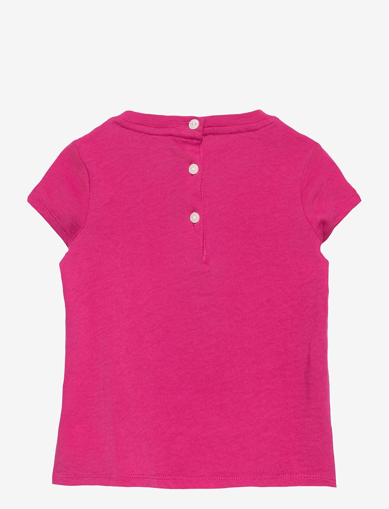 Ralph Lauren Baby - Backpack Bear Cotton Tee - kortærmede - college pink - 1