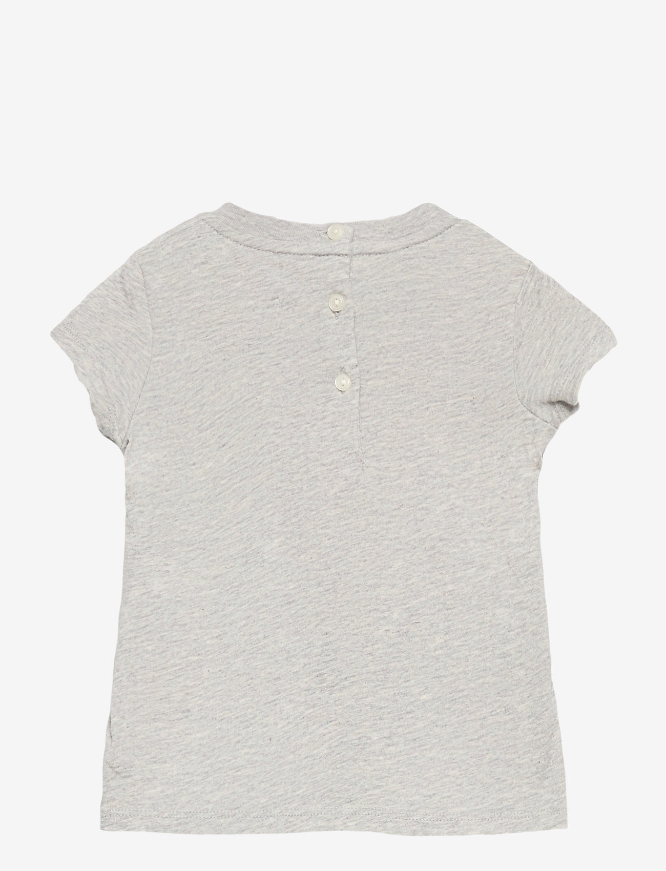 Ralph Lauren Baby - Backpack Bear Cotton Tee - short-sleeved - heather grey - 1
