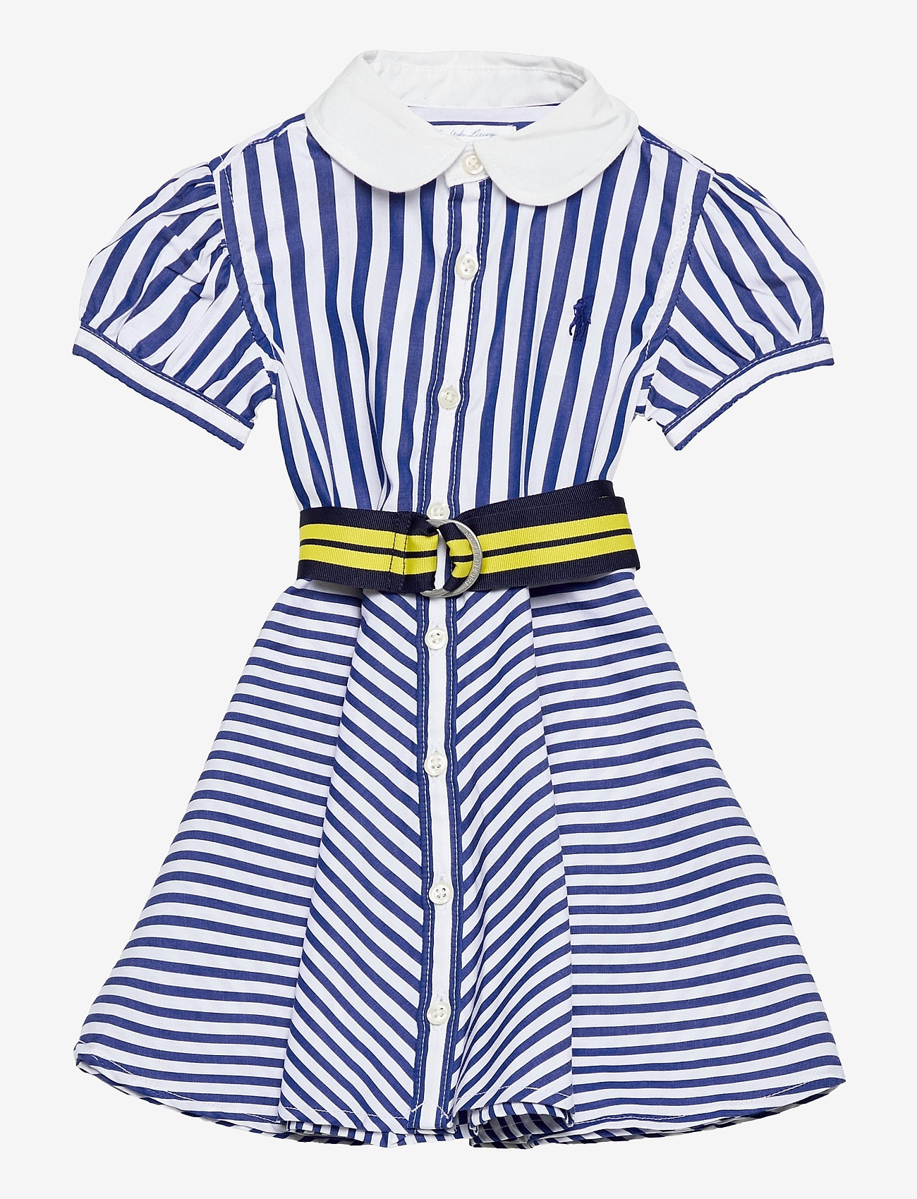 Ralph Lauren Baby - Shirtdress, Belt, & Bloomer - dresses - blue/white - 0