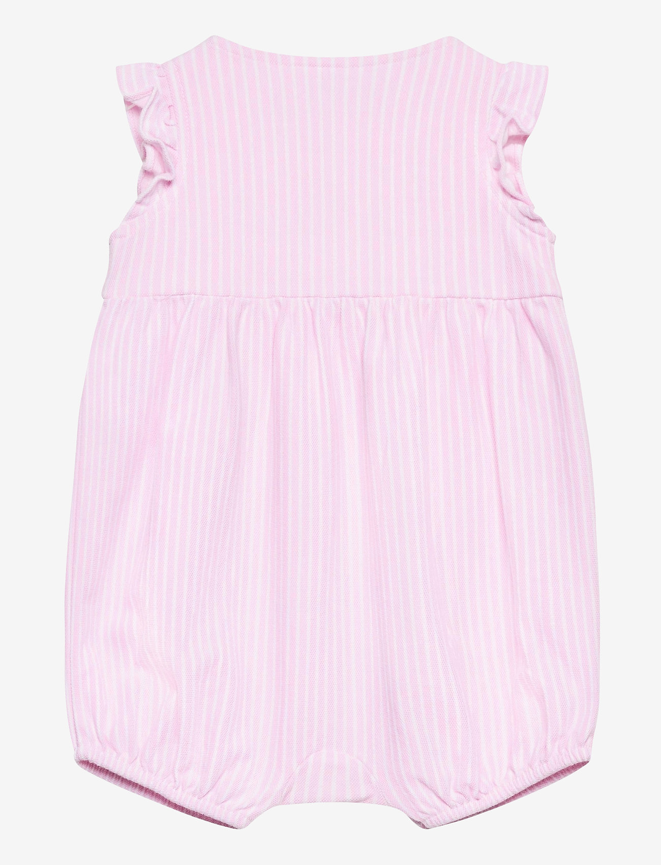 Ralph Lauren Baby - Oxford Mesh Bubble Shortall - kurzärmelig - carmel pink/white - 1