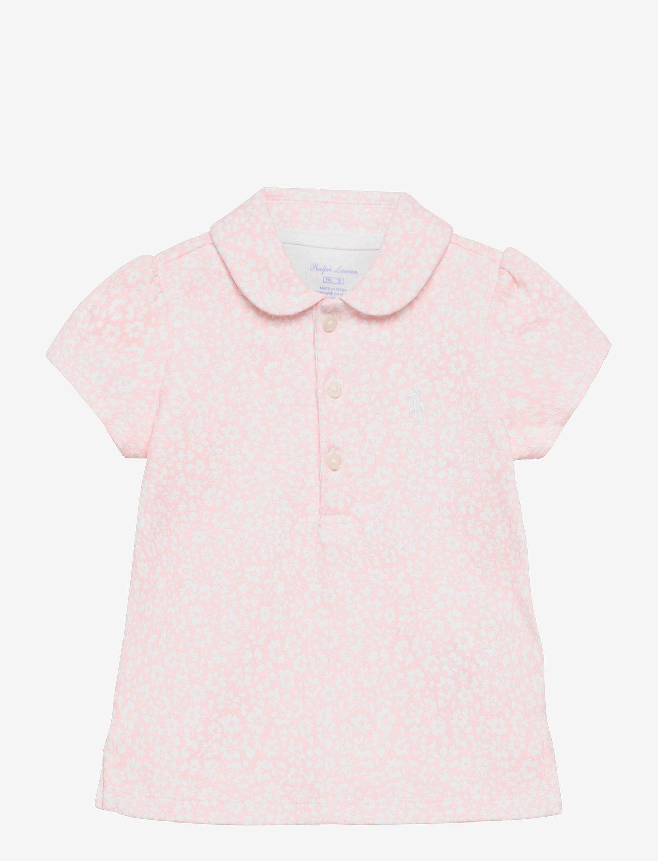 Ralph Lauren Baby - Floral Cotton Interlock Polo - poloer - pink white multi - 0