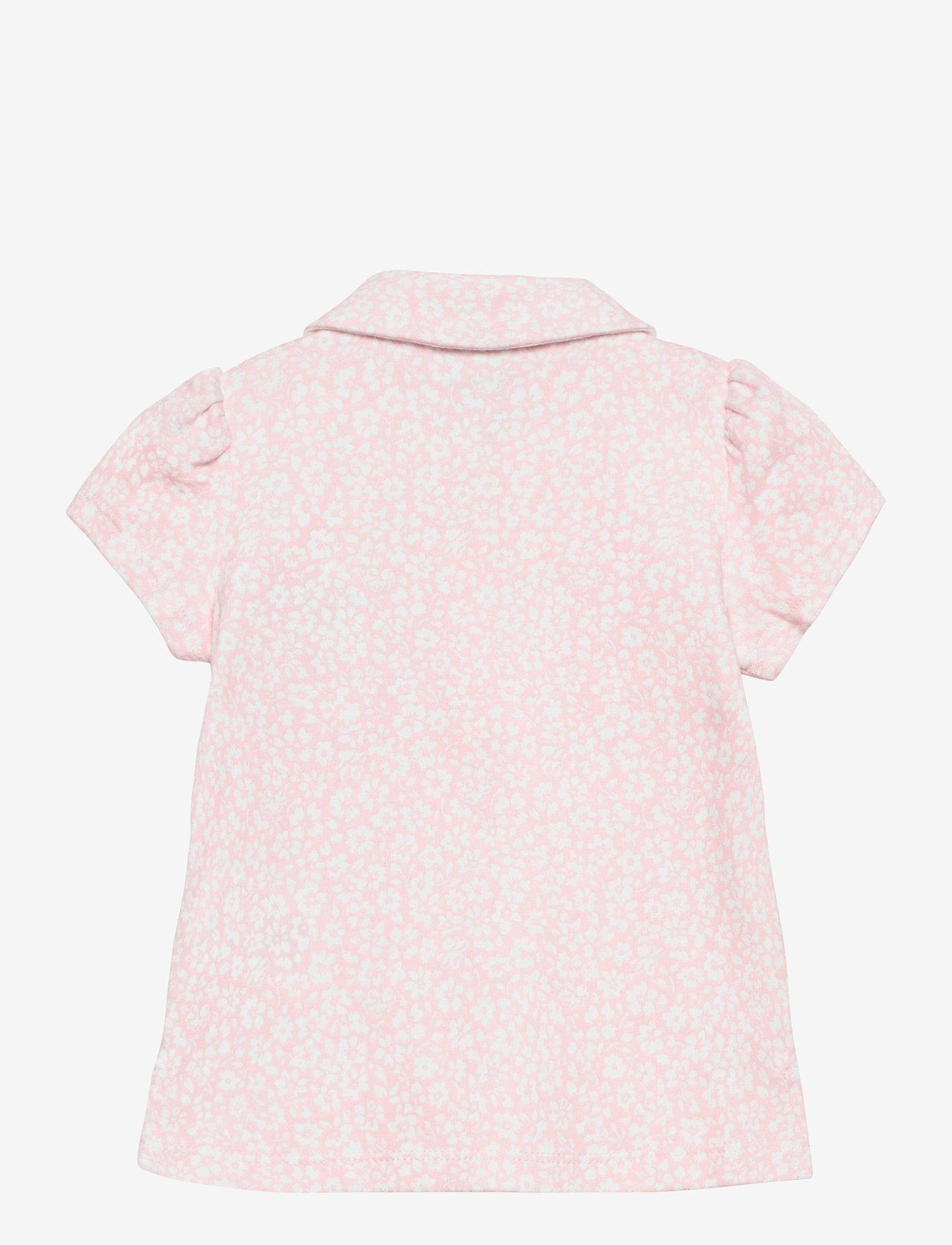 Ralph Lauren Baby - Floral Cotton Interlock Polo - poloer - pink white multi - 1