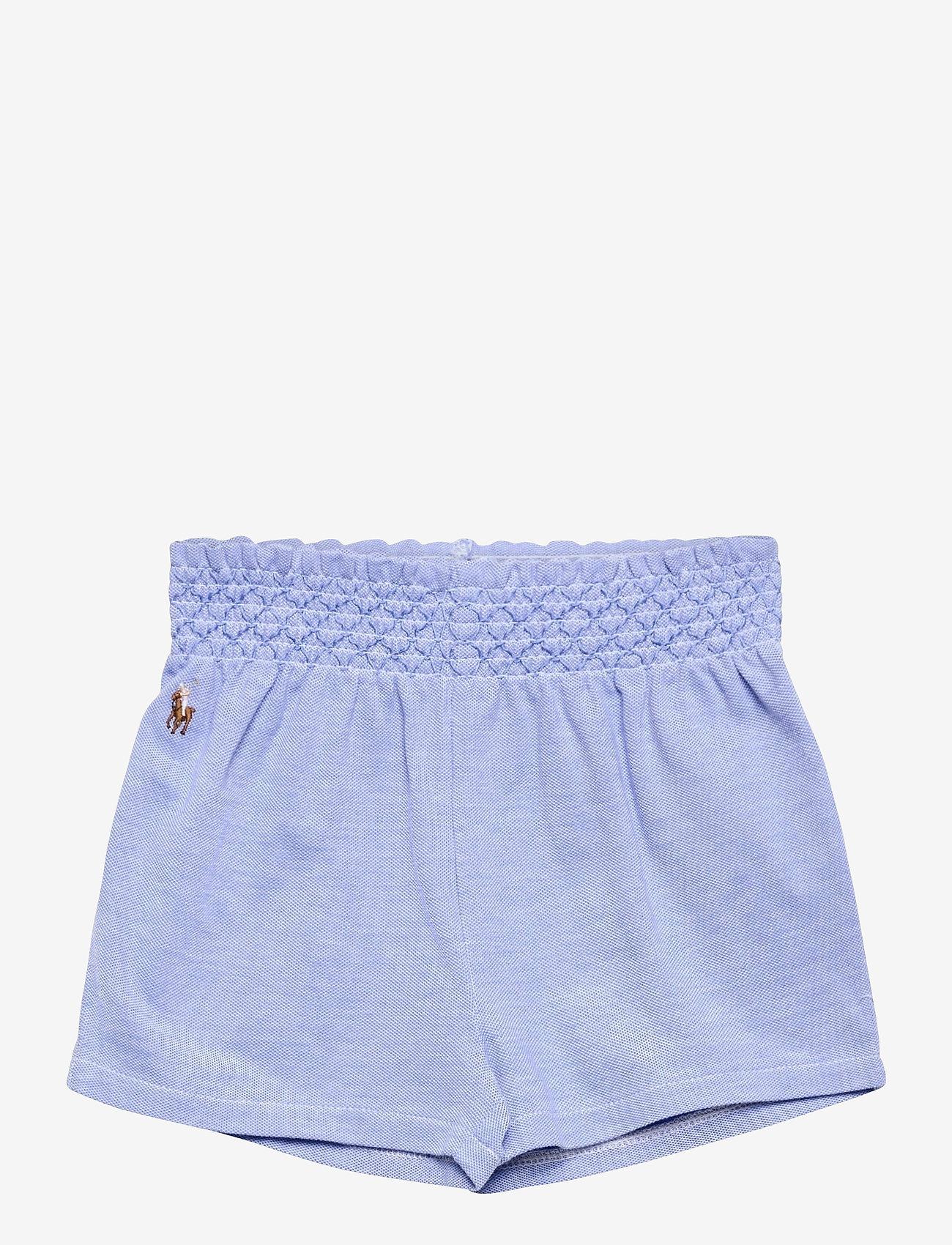 Ralph Lauren Baby - Smocked Oxford Pull-On Short - shorts - harbor island blu - 0