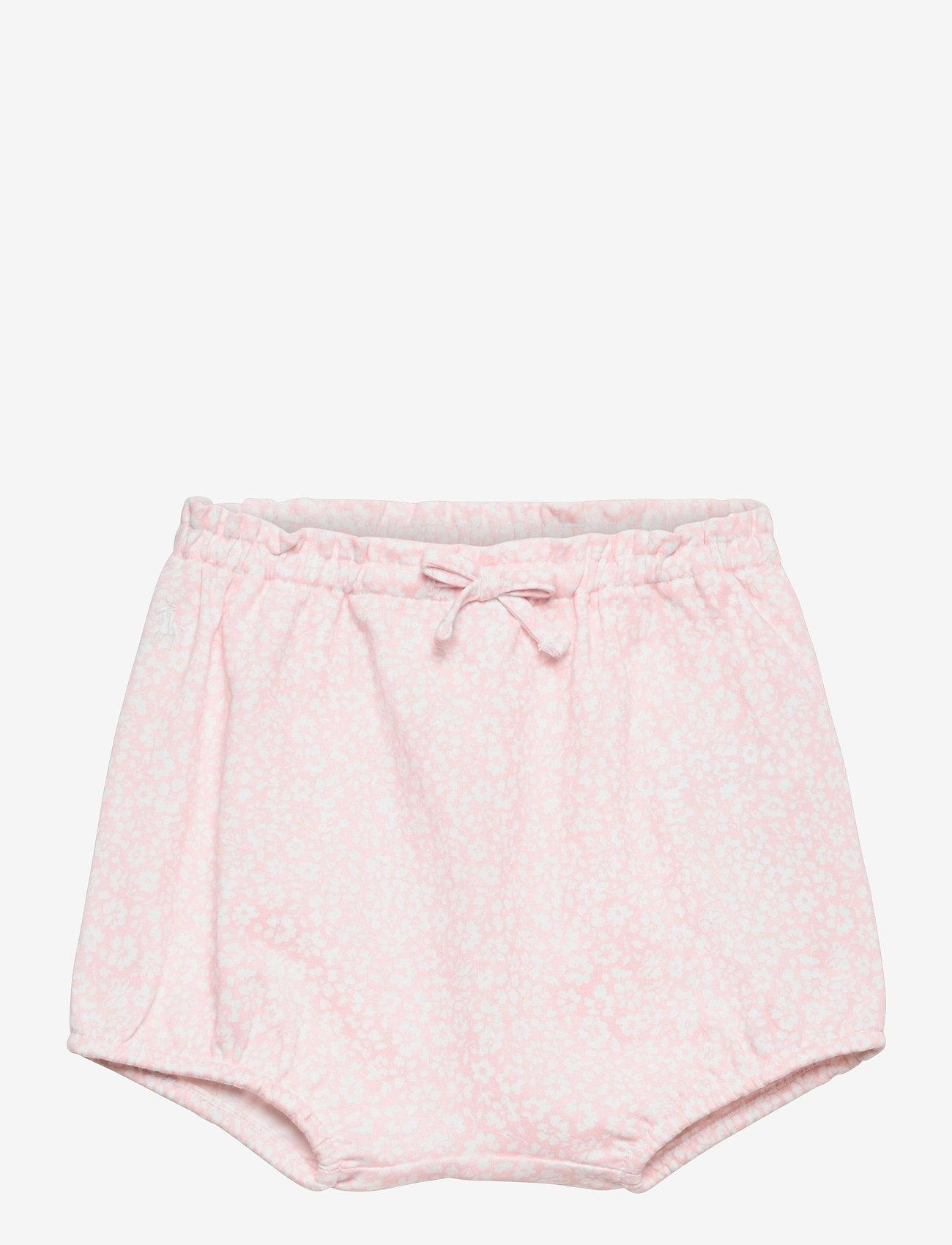 Ralph Lauren Baby - Floral Interlock Bloomer Short - bottoms - pink white multi - 0