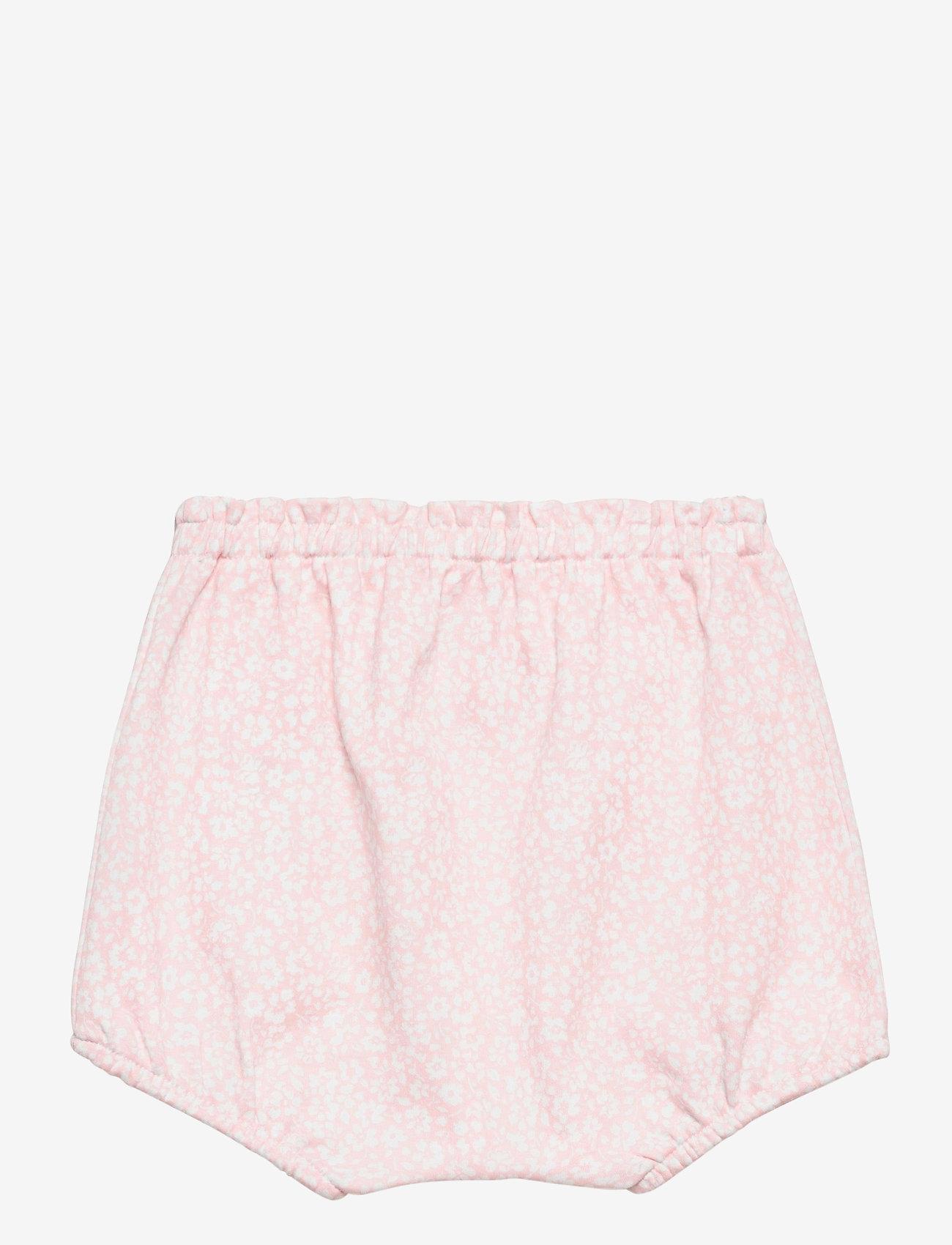 Ralph Lauren Baby - Floral Interlock Bloomer Short - bottoms - pink white multi - 1