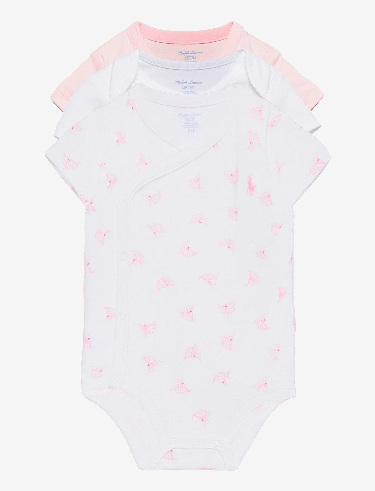 Ralph Lauren Baby - Nautical 3-Piece Bodysuit Set - kurzärmelige - delicate pink mul - 0