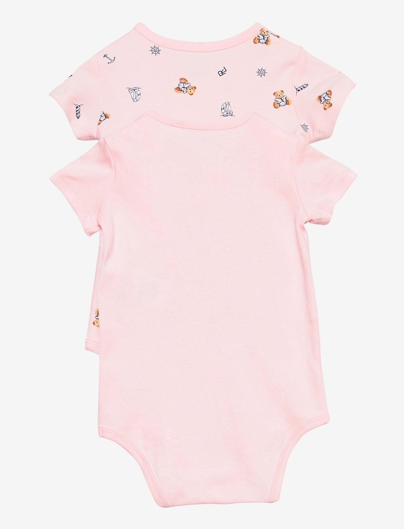 Ralph Lauren Baby - Polo Bear Bodysuit 2-Piece Set - kurzärmelige - pink multi - 1