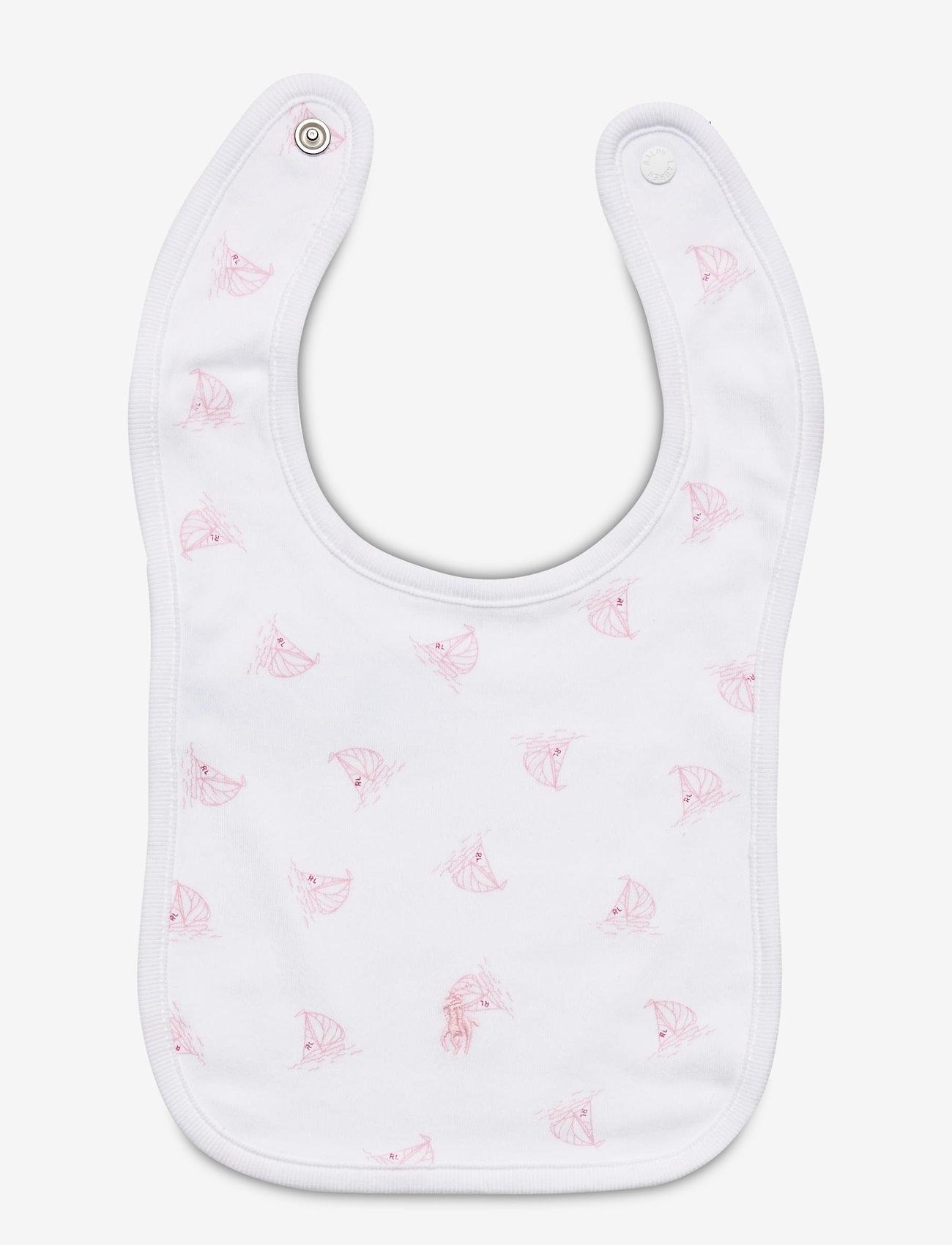 Ralph Lauren Baby - Nautical Cotton Interlock Bib - bibs - white multi - 1