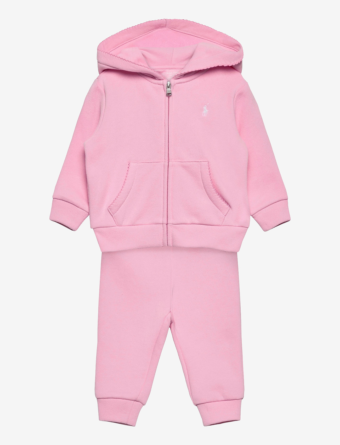 Ralph Lauren Baby - Fleece Hoodie & Pant Set - tracksuits - carmel pink - 0