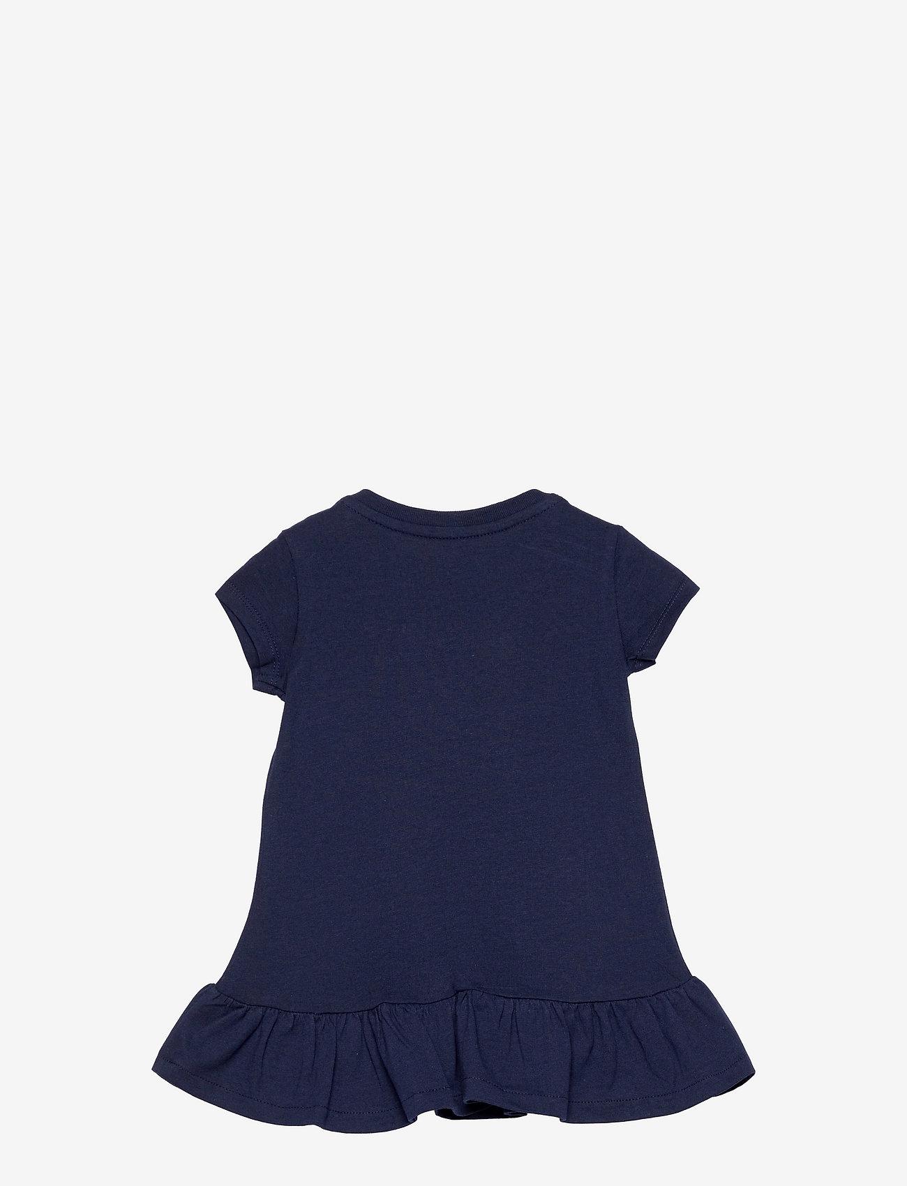 Ralph Lauren Baby - Logo Ruffled Tee Dress & Bloomer - kleider - french navy - 1