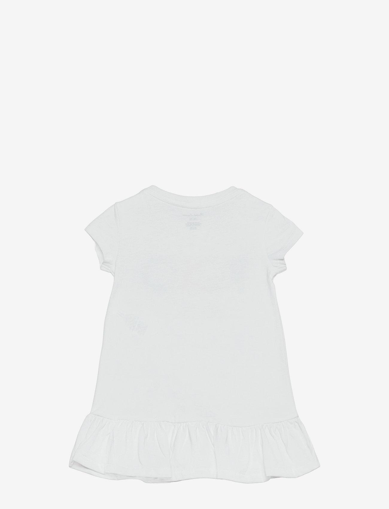 Ralph Lauren Baby - Logo Ruffled Tee Dress & Bloomer - kleider - white - 1