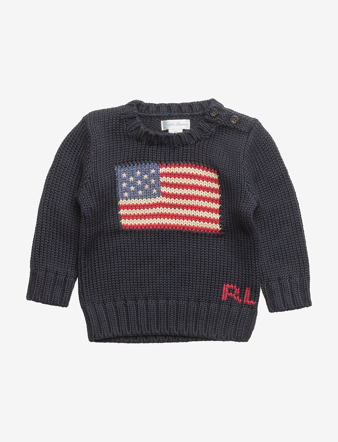 Ralph Lauren Baby - Flag Cotton Sweater - neuleet - hunter navy