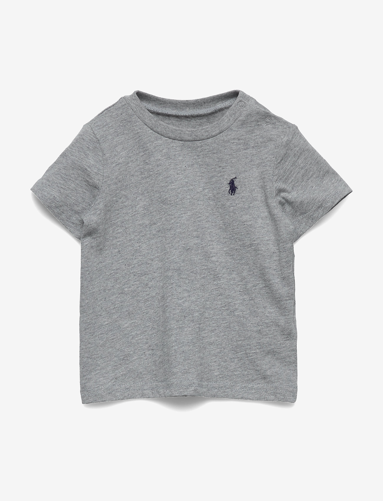 Ralph Lauren Baby - Cotton Jersey Crewneck Tee - kortærmede - andover heather - 0