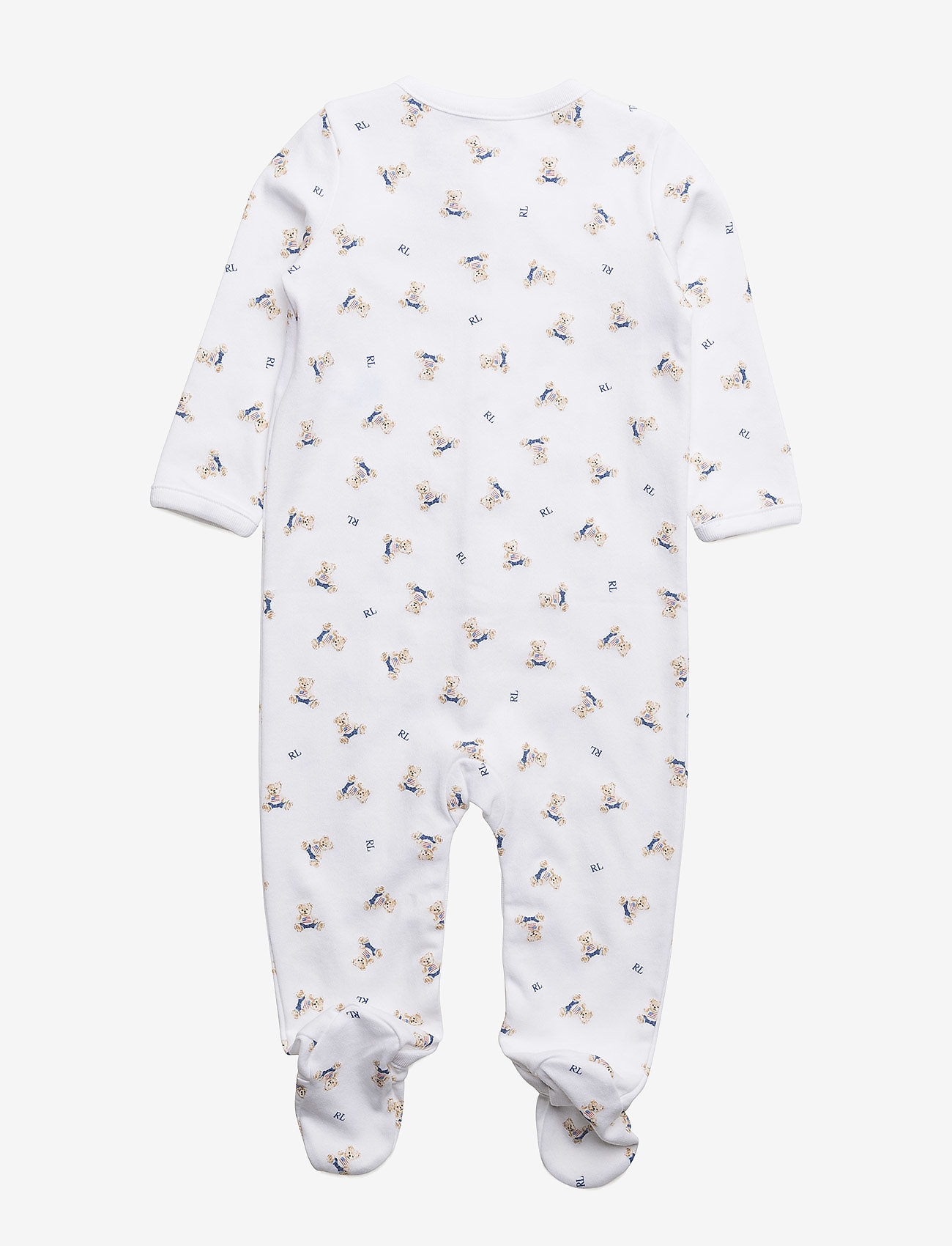 Ralph Lauren Baby - Polo Bear Cotton Coverall - pitkähihaiset - white/blue multi
